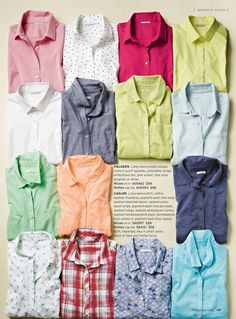 Nordstrom March 2013 Life Meet Style Catalog folded shirts