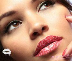 2013 new 3D Art lips temporary tattoo sticker lip makeup waterproof  tatoo Violence lip stick lipstick stickers Giraffe Pattern