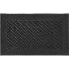 Yves Delorme Etoile Noir Bath Mat ($120) ❤ liked on Polyvore featuring home, bed & bath, bath, bath rugs, black bathroom rugs, black bath mat and yves delorme
