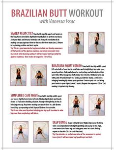Brazilian Butt workout (Fitness mag.)
