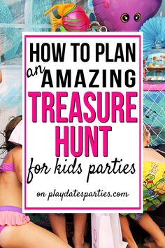 Fun kids party games - How to Plan the Best Treasure Hunt for Kids – Fun kids party games Birthday Party At Home, Birthday Party Games For Kids, Backyard Birthday, Birthday Activities, Birthday Themes For Boys, Fun Party Games, Party Activities, Party Game Prizes, Childrens Party Games