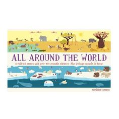 All Around The World Sticker Book: All Around the World is a charmingly illustrated journey of discovery through different environments, including the ocean, forest, jungle, desert, and Arctic. Each is shown in a giant fold-out panorama, ready to be populated with the four hundred reusable animal stickers that bring the landscapes to life. Children will love Géraldine Cosneau's quirky illustrations and have fun deciding which animals belong in each panorama. On the reverse side of the…