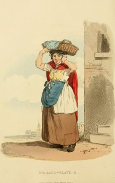 a Billingsgate Fish-woman ~ Picturesque representations of the dress and manners of the English (1813)