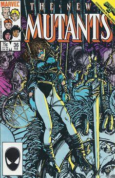 New Mutants N°36 (1986) - Cover by Barry Windsor-Smith Bd Comics, Marvel Comics Art, Marvel Comic Universe, Marvel Comic Books, Comic Book Heroes, Comic Books Art, Book Art, Marvel Marvel, Avengers Comics