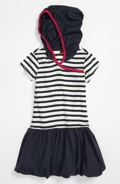 Tea Collection Hooded Bubble Dress (Toddler) | Nordstrom