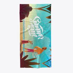 Summer Time   Beach Towel Standard T-Shirt Front
