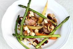 Filet de porc farci aux figues, féta et noix de pin!  398 calories / 38 g glucide s/ 13 g gras / 32 g protéines / 6 g fibres