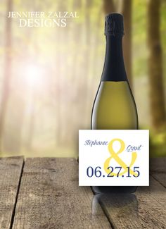 Wedding Name(s) Wine Labels - Set of Personalized Wedding Wine Labels by DesignsByZal on Etsy