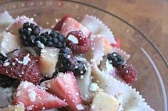 Patriotic Pasta {with fruit} Salad