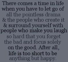 Time in life...