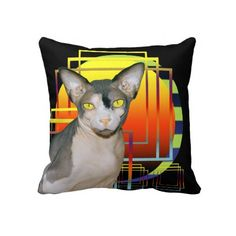 Pillow | Sphynx Cat Ninja Transparent Background
