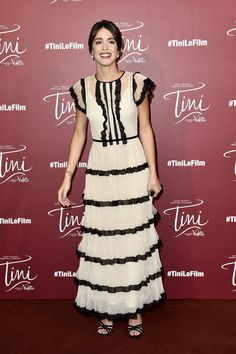 Martina Stoessel in REDValentino attends the 'Tini, La Nouvelle Vie De Violetta' Paris Premiere at UGC Cine Cite La Defense on April 24, 2016 in Paris-La Defense, France.