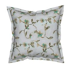 Blossoms On Gray Pillow by menny | Roostery Home Decor