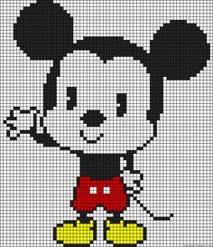 Baby Mickey Mouse perler bead pattern