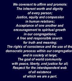 The Seven Principles Of Unitarian Universalism