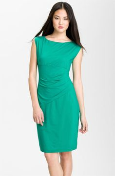 Love the color and the dress.