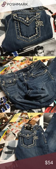Reduced!! Miss Me Jeans!!! Like New Miss Me Jeans. 28x31. No missing rhinestones and super cute on!!! Like them..Make an offer!! Miss Me Jeans Boot Cut