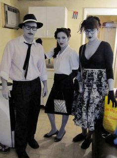 Black and white Halloween costume
