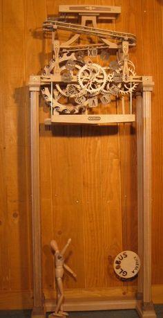 Horloge bois - Horloge à Billes