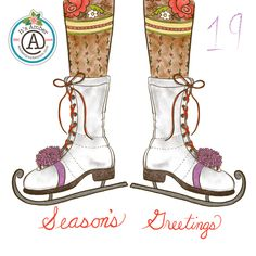 Ice Skates by Amber Lynn Benton for #ItsAdvent2016