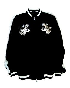 Men's Tiger on Rock Embroidery Jacket