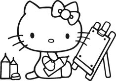 Hello Kitty Coloring Pages Pinterest