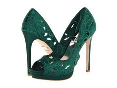 Badgley Mischka Dacey in Emerald Green #heels #shoelove #zappos