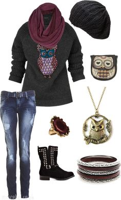 """Night Owl"" by kass1725 on Polyvore"