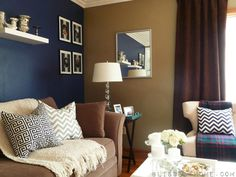 """Navy Wall is painted in Valspar Signature Collection """"Mystified"""" 4011-8"""