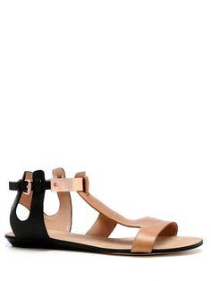 Bardot Sandals Nude/black/rose by Rebecca Minkoff