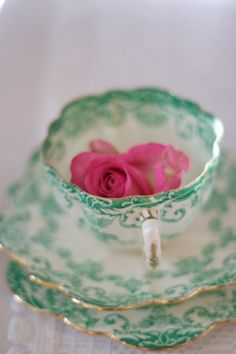 Vintage China... the perfect tea time accompaniment.
