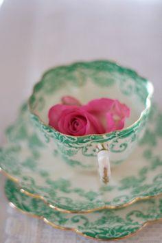Vintage China... the perfect tea time accompaniment.