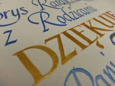 Some #italic #calligraphy for a friend.