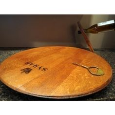 Tabletop Lazy Sally Wine Barrel from @daily planet Grommet $120  I pinned it to win it from @daily planet Grommet