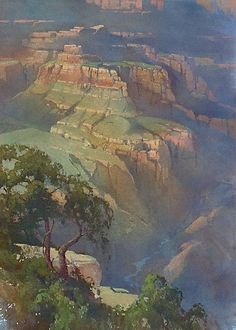 Shadows - Cindy Baron - watercolors This is not your typical watercolor. Artist was able to capture the vastness of the canyons.