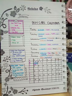 My Skin Care Daily Routine Calendar