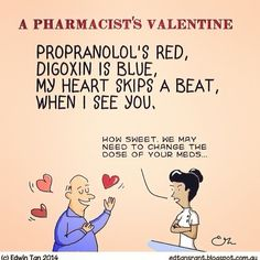 """Pharmacist's Valentine""- Laughed so much! - pharmacy humor"