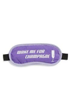 Flight 001 'Wake Me for Champagne' Sleep Mask