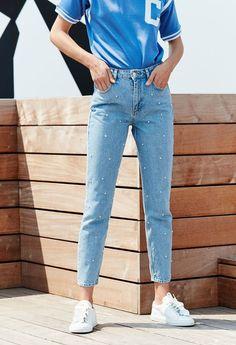 Un jean avec des perles Claudie Pierlot