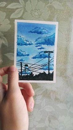 Watercolor Art Lessons, Watercolor Paintings For Beginners, Watercolor Art Landscape, Watercolor Ideas, Beginner Painting, Watercolour Tutorials, Watercolor Portraits, Watercolor Illustration, Small Canvas Art