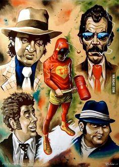 Greatest hero of Latin America! All hail El Chapulin Colorado! is part of Cartoon art - 41 points Digital Foto, Foto Poster, Creation Art, Chicano Art, Mexican Art, Mexican Heroes, High Level, Anime Comics, Cartoon Art