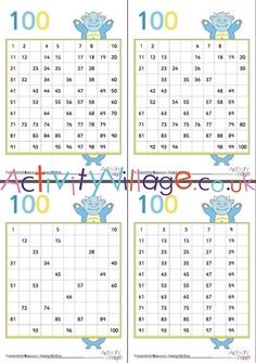 Monster hundred square fill in the blanks - a complete set with variations to choose from. Monster Crafts, Monster Games, Monster Coloring Pages, Colouring Pages, Maths Resources, Monsters, Fill, Monster School, Entering School