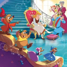 Reward: The king's men come to Cinderella's house, and make her try the glass slipper. It was hers so it would fit her perfectly. This means she has a chance of being a princess. Walt Disney, Disney Love, Disney Magic, Disney Pixar, Cinderella And Prince Charming, Disney Princess Cinderella, Cinderella 2015, Princess Art, Dreamworks
