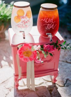 Romantic Garden Wedding Featured on Style Me Pretty / Calligraphy by Shannon Kirsten / Photo by Justin Demutiis