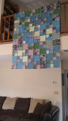 So cute and comfy to stay cozy through the winter, love this rag quilt!!