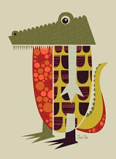 """""""Alligator"""" Art Print by Jenn Ski on Society6."""