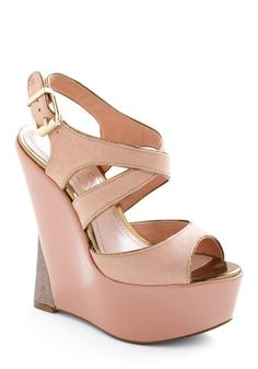 Makes Me Blush Wedge - Modcloth   I love a nice wedge, Spring hurry up!