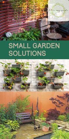 Garden Landscaping With Stones Small Garden Solutions Unique Garden, Herb Garden Design, Small Garden Design, Easy Garden, Garden Ideas, Garden Tips, Garden Inspiration, Small Space Gardening, Garden Spaces