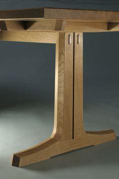 Nick Thwaites furniture - Oak dining table