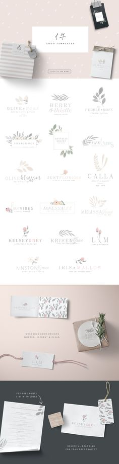 Isabella Botanicals Kit by Sunny Blossom Designs on @creativemarket floral frame, wedding stationary, design pack, toolkit, designer tool kit, logo templates, floral logos, botanical illustrations, wreaths, berries, borders, patterns, digital paper, botanical digital papers, elegant logo templates, free fonts, packaging patterns, floral crown, flowers, pink flowers [ad] #design